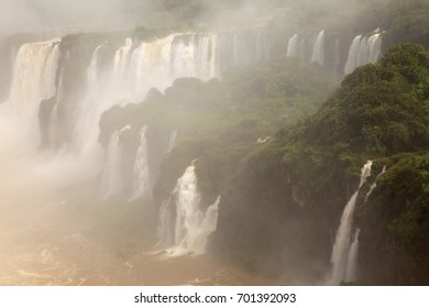 Iguazu Falls, UNESCO World Heritage Sites, and a New 7 Wonders of the world. View from the Brazilian side.