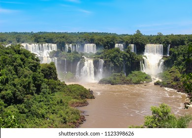 Iguazu Falls or Iguaçu Falls are waterfalls of the Iguazu River on the border of the Argentine province of Misiones and the Brazilian state of Parana