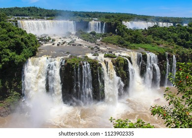 Iguazu Falls or Iguaçu Falls are waterfalls of the Iguazu River on the border of the Argentine province of Misiones and the Brazilian state of Parana,
