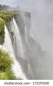 Iguazu waterfalls in Puerto Iguazu, Argentina