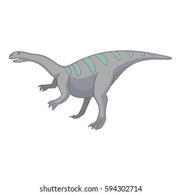 Igunodon icon. Cartoon illustration of igunodon  icon for web