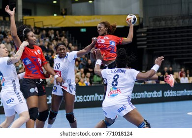 IHF Women's Handball World Championship group A match between France and Angola on December 03, 2017 in Trier, Germany