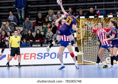 IHF Women's Handball World Championship group A match between Romania and Paraguay on December 02, 2017 in Trier, Germany