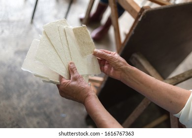 Iiyama City has produced uchiyamagami, a type of traditional Japanese paper, for more than 350 years. the studio uses techniques passed down for generations