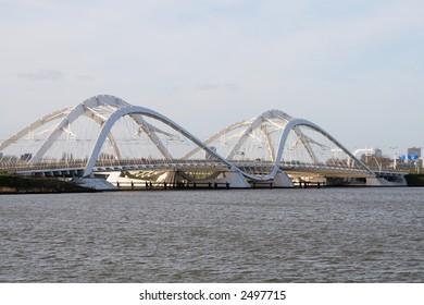 IJ bridge in Amsterdam Holland