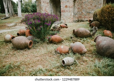 Ikalto Monastery, Georgia. Jugs for wine