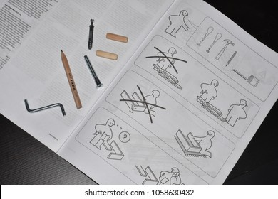 Ikea, instructions and tools for building furniture
