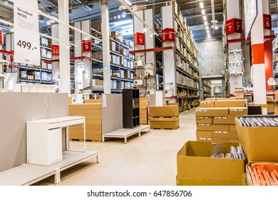 Ikea storeroom for more than 9,500 products at Hoje Taastrup, Denmark, July 7, 2016