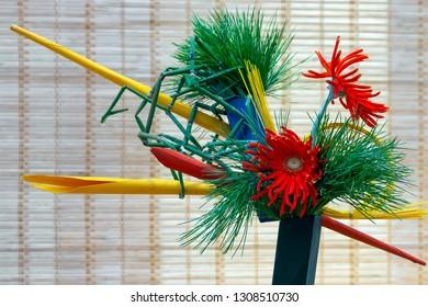 Ikebana, japanese traditional floral arrangement
