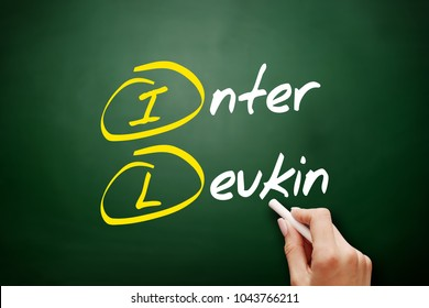 IL - interleukin acronym concept on blackboard