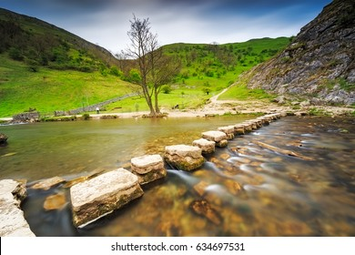 Ilam Park to the Stepping Stones in Dovedale in Uk.