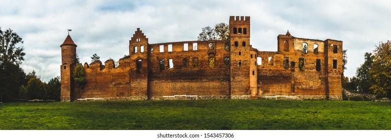 Ilawa Lakeland (Poland).  Szymbark Castle