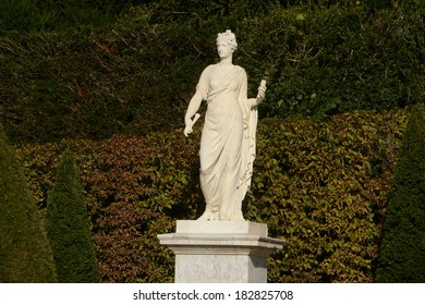 Ile de France, marble statue in the Versailles Palace park