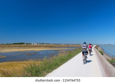 ILE DE RE, FRANCE - JUNE 25 2018: Bicycles on the island Ile the Ré on june 25 2018
