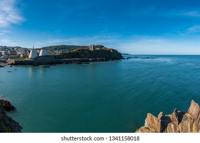 Ilfracombe, Devon, England, UK - September 29, 2018: View from Capstone Point towards the Landmark Theatre