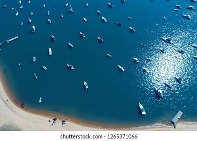 Ilhabela, Brazil: Aerial view of a beautiful place. Fantastic landscape. Great beach view. Harbor. Boats. Candles. Sailboats. Sailing.