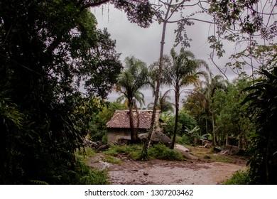 Ilhabela/SP/BR - Fevereiro 13, 2018: An isolated house amidst the nature of Ilhabela State Park.