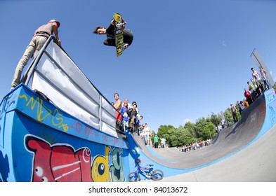 ILHAVO, PORTUGAL - SEPTEMBER 04: Ruben Gamito during the 2nd Stage of the DC Skate Challenge on September 04, 2011 in Ilhavo, Portugal.