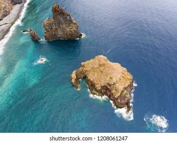 Ilheus in Ribeira da Janela, Madeira, Portugal