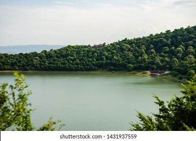 Ilia lake in Kvareli, Kakheti in the summer time