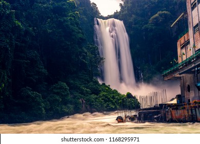Iligan City‎, ‎Mindanao / Philippines - August 13, 2018: The Maria Cristina falls that that generates 70% of Mindanao's electricity.