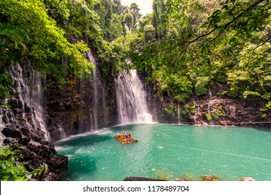 Iligan City‎, ‎Mindanao / Philippines - August 13, 2018: Tinago Falls and a group of people