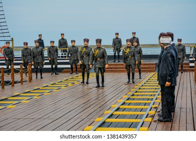 ILKADIM, SAMSUN, TURKEY 24 APRIL 2019: Tobacco Pier is a pier in Samsun where Mustafa Kemal Atatürk stepped into the Turkish War of Independence.  Today,  it is an open air museum.