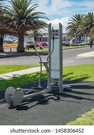 Illawarra NSW Australia March 22nd 2019 - Eliptical at Exercise area in Kiama Blow Hole Park