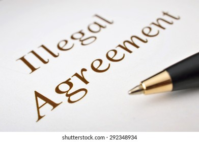 Illegal agreement concept