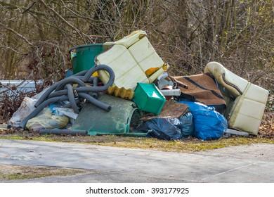 Illegal bulk waste discarded