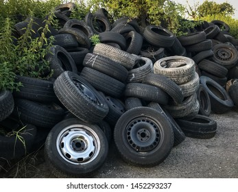 illegal dumping of old tires
