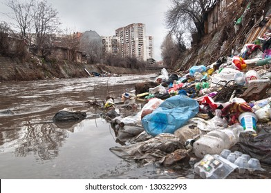 Illegal landfill near city sewer