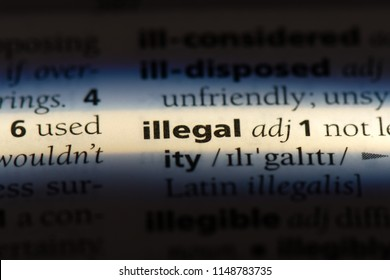illegal word in a dictionary. illegal concept.