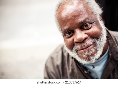 ILLINOIS, USA - AUGUST 9, 2013: Portrait of elderly black man in Chicago on August 9, 2013, Illinois, USA