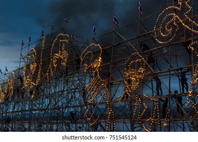 The illuminate Boat Procession Festival in the Mekong River,Nakhon Phanom province, Thailand