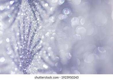 Illuminated and blurred glitter that creates a bokeh effect.