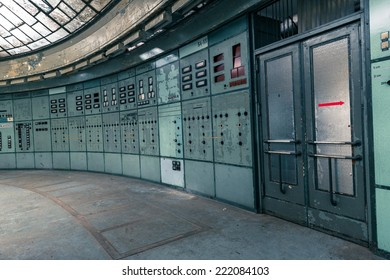 Illuminated control room