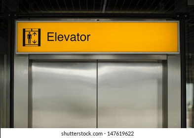 Illuminated elevator sign