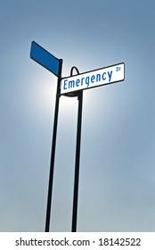 Illuminated Emergency Sign