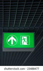 illuminated exit sign