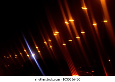Illuminated & glowing streetlights isolated abstract background photo