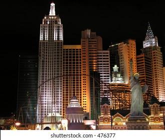 Illuminated Hotel in Las Vegas