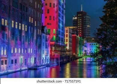 illuminated night view - Hamburg Panorama at night