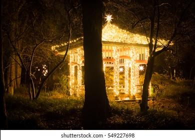 Illuminated pavilion in Berlin, Germany