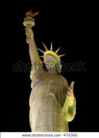 illuminated statue liberty las vegas stock photo edit now 476366