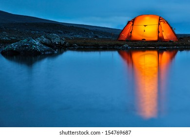 Illuminated Tent with reflection