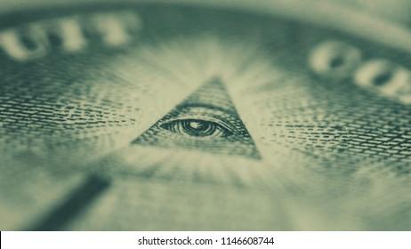 Illuminati green eye