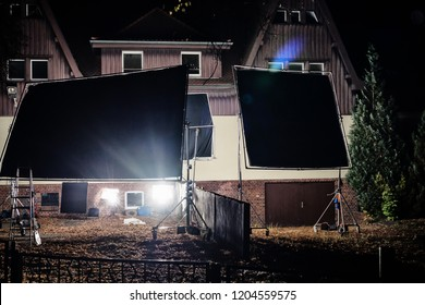 Illumination on the nightly film set