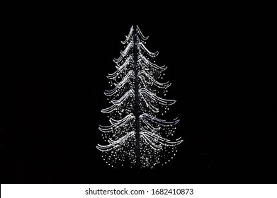 Illumination in the shape of a fir tree