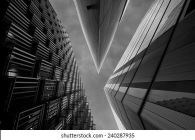 Illumination VII. Cool office buildings in London, UK.